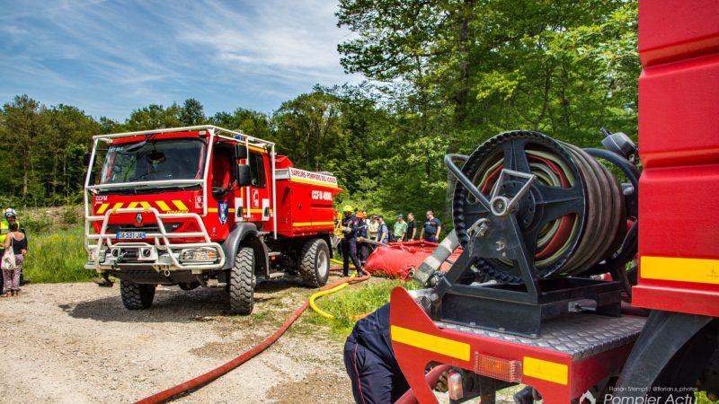 ?? Charmes (88) : Exercice feu de forêt en collaboration avec l'ONF