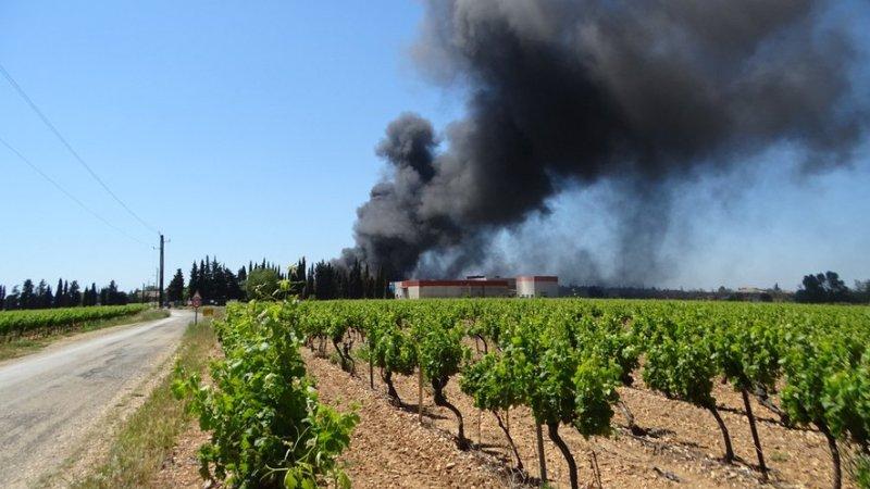 ?? Lédenon (30) : Un incendie se déclare dans une usine de produits chimiques