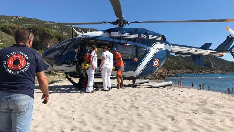 🇫🇷 Coti-Chiavari (2A) : Un motard évacué par hélicoptère après une chute