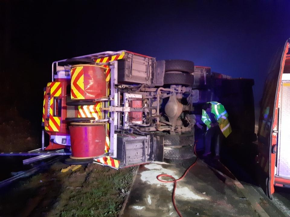 🇫🇷 Bourg-en-Bresse (01) : Le camion de pompiers se renverse faisant trois blessés parmi eux
