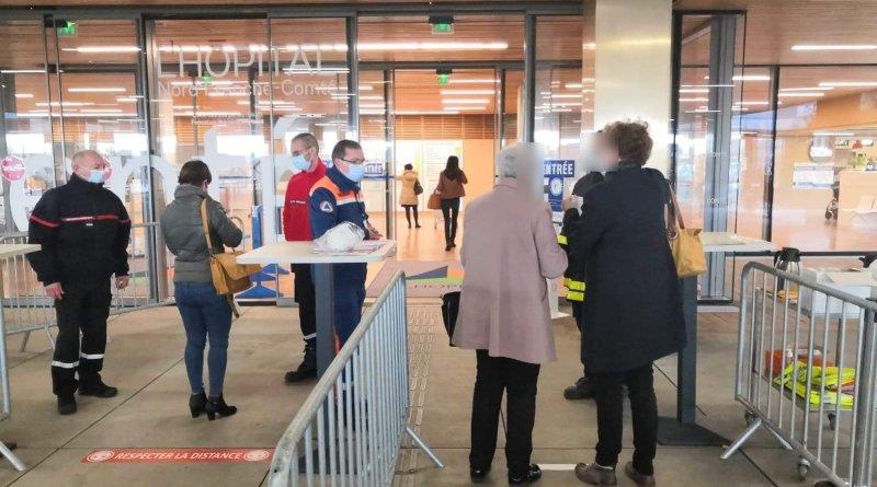 Solidarité des sapeurs-pompiers avec l'Hôpital Nord Franche Comté.