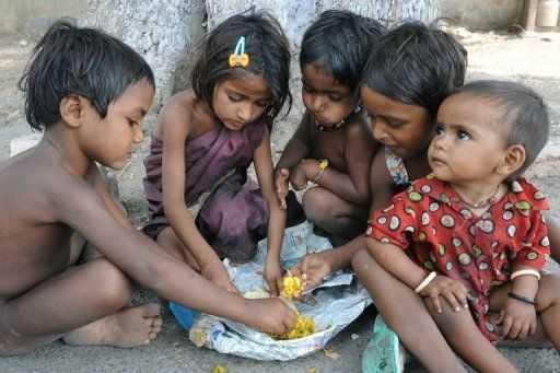 poor kids in india