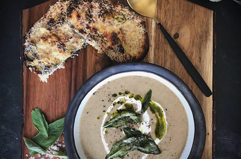Mushroom, Black Garlic & Sage Soup