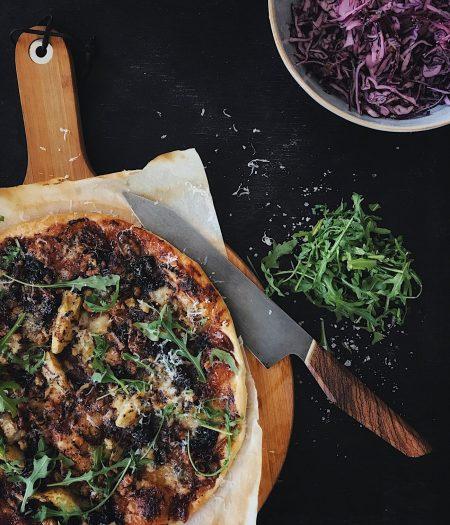 Fig, Blue Cheese & Walnut Puff Pizza
