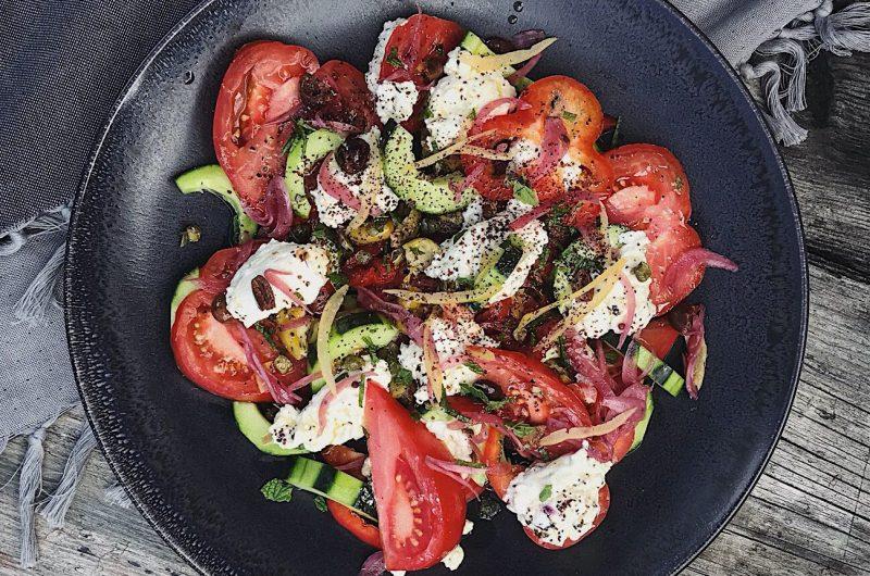 Tomato & Cretan Mizithra Salad