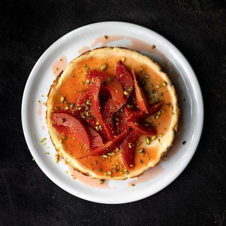 Baked Labneh Cheesecake with Quince