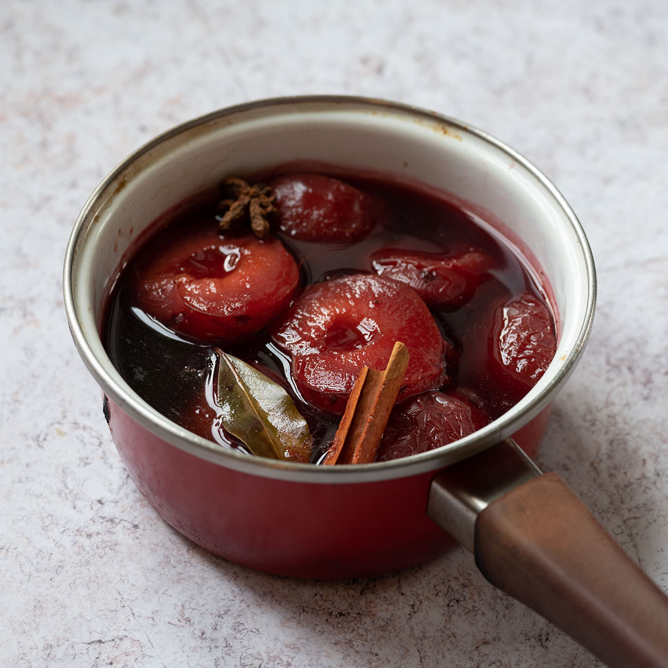 Earl Grey Poached Plums