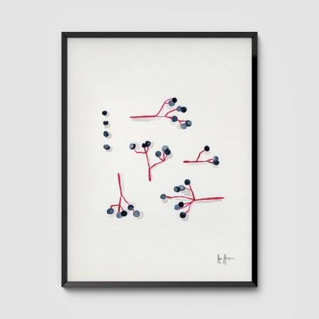 Elderberries Framed Art Print