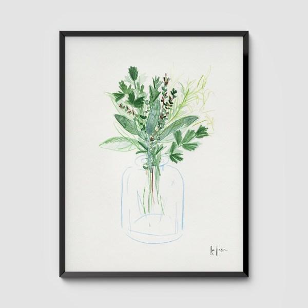 Herb Bouquet Framed Art Print