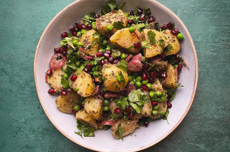 Easy Indian Potato & Pea Salad (Aloo Matar Chaat)