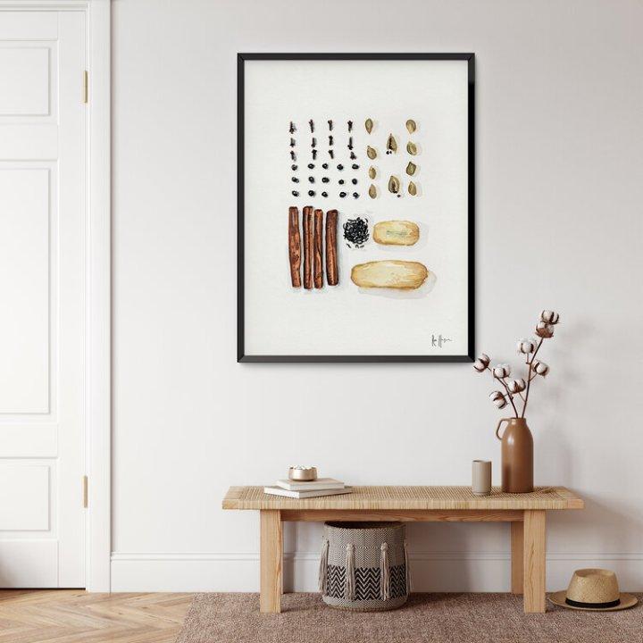 Chai Spices Art Print