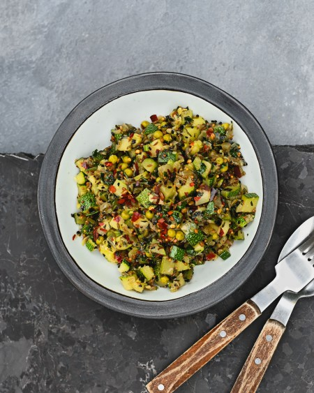 Courgette and Pea Indian Subzi Subji Side