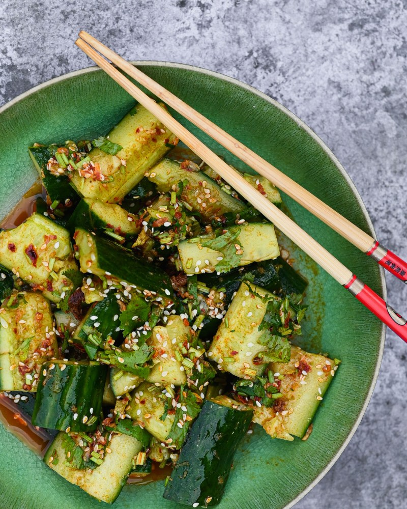 Chinese Sichuan Smacked Cucumber Salad