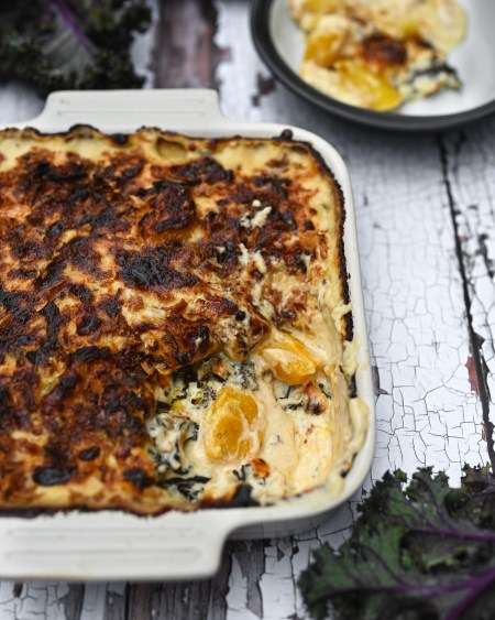 Marrow and Kale Baked Cheese