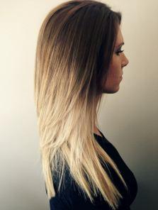 balayage-ombré-blond-clair-log-cheveux-lisse-dégradé