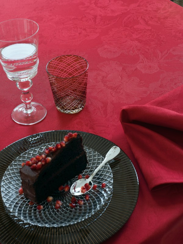 Le Jacquard Francais Wipe Tablecloth Pivoine