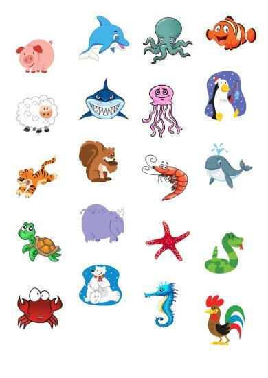 My shopping list animals2