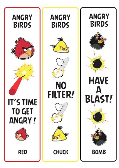Bookmarks Angry Birds