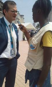 monica, enfant reporter,interview avec Yves-Unicef