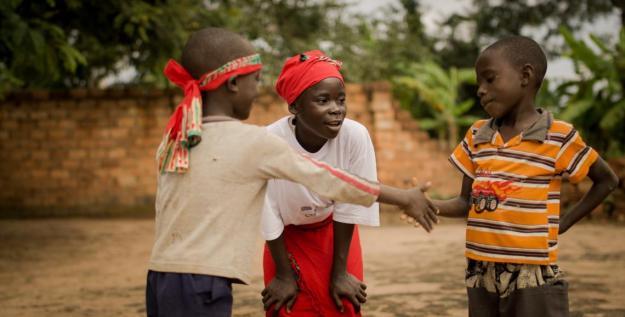 Pygmy children in DRC