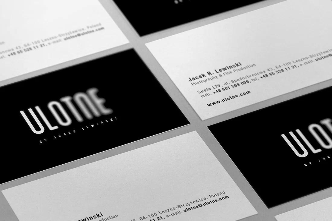 Ulotne - wizytówki studio fotografii