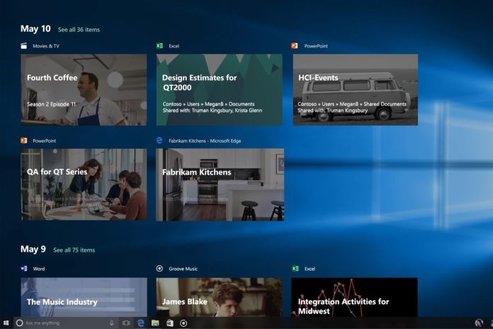 Analizando la última actualización de Windows 10 april 2018 - Timeline