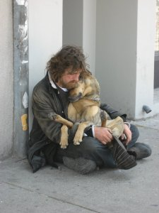 The love of a man for his dog.