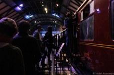 Waiting in line to board the Hogwarts Express. © Violet Acevedo.