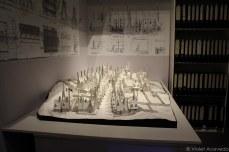 White card model of Hogsmeade. © Violet Acevedo,
