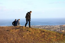 Other hikers up near the top of Arthur's Seat. © Violet Acevedo
