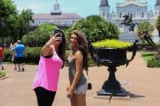 Selfie in front of St. Louis Cathedral. © Violet Acevedo