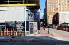 The urban grit on N. Rampart Street. © Violet Acevedo
