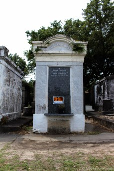 Tomb for sale in Lafayette Cemetery. © Violet Acevedo