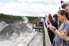 All gathered to capture the largest mud volcano in the Southern hemisphere. © Violet Acevedo