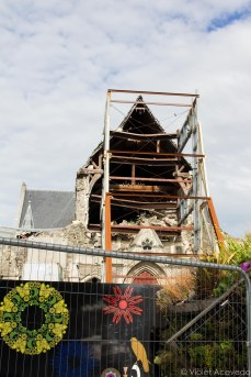 The damage to the Christchurch Cathedral. © Violet Acevedo