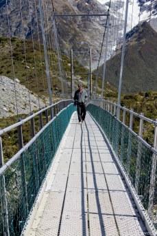 Walking along the second suspension bridge.