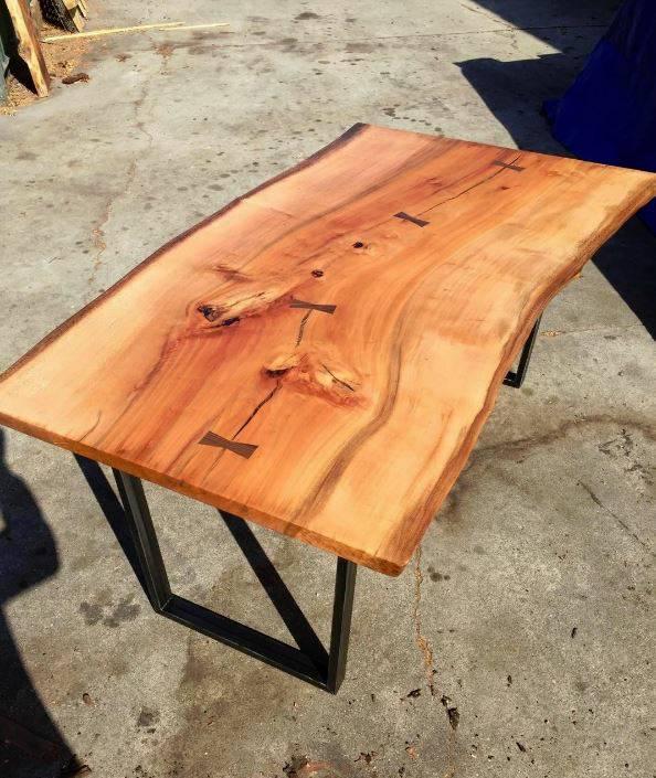 live edge wood slabs and furniture