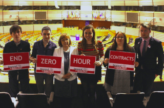 zero-hours contracts protest