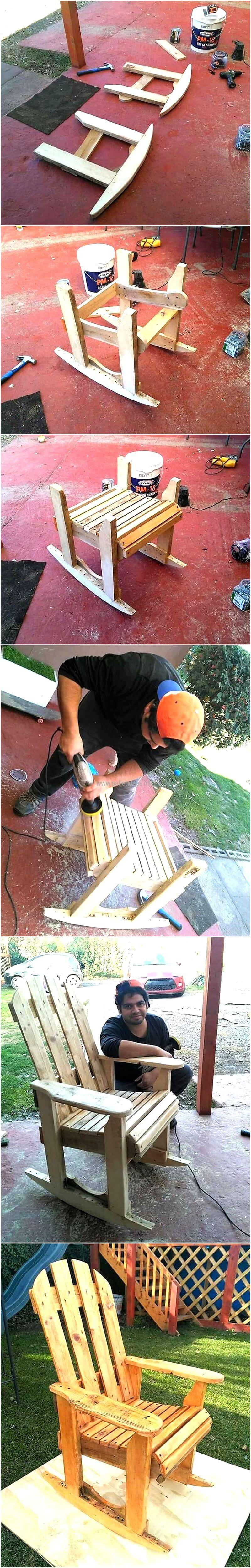 diy pallet rocking chair plans office gaming awesome free how to build a wood pallets plan here are the steps of creating for enjoying in lawn with beauty nature