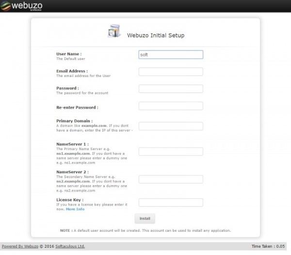 Installasi Webuzo di VPS | Image source: webuzo.com