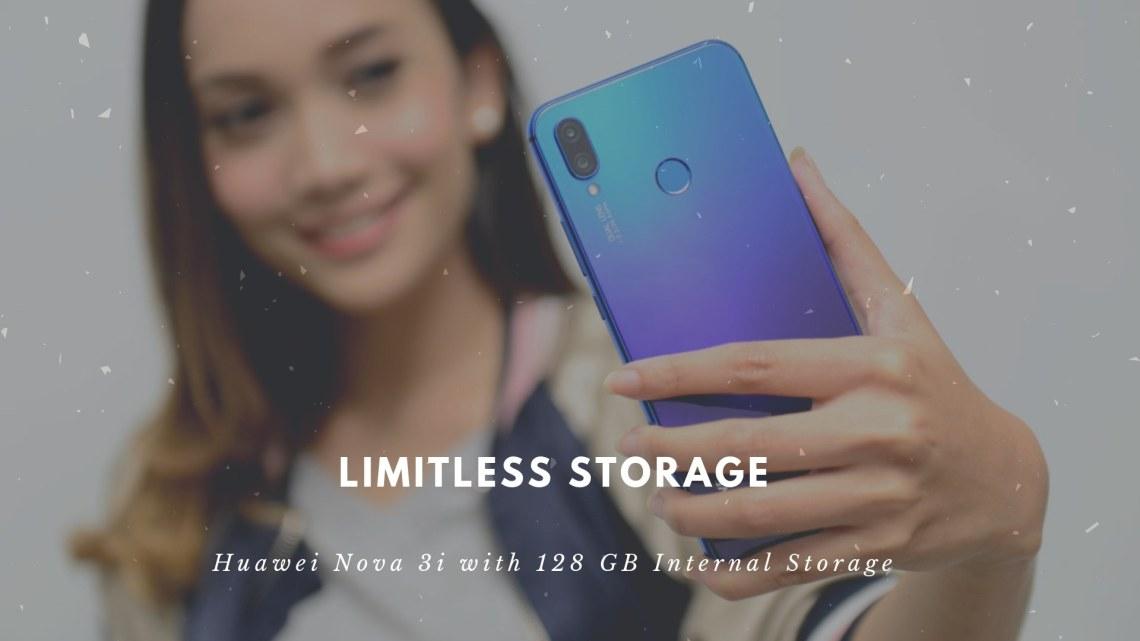 Limitless Storage - Huawei Nova 3i