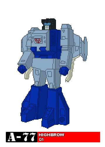 Headmaster Transformers Retro Pixel Art