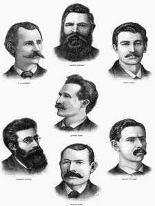 Primero de Mayo   Retrato de los 'Mártires de Chicago'   1887   Frank Leslie   Ilustrated Newspaper