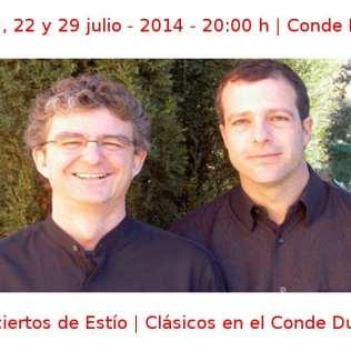 08, 15, 22 y 29 julio - 2014 - 20:00 h | Conde Duque | Conciertos de Estío - Clásicos en el Conde Duque | Veranos de la Villa 2014 | Madrid