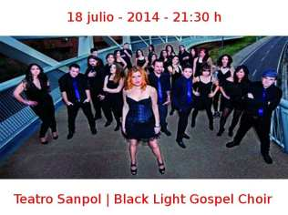 18 julio - 2014 - 21:30 h | Teatro Sanpol | Black Light Gospel Choir | Veranos de la Villa 2014 | Madrid