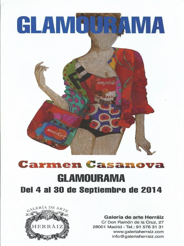 Cartel | Exposición 'Glamourama' de Carmen Casanova | Galería Herráiz de Madrid | Del 4 al 30 de septiembre de 2014