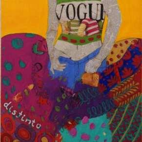En Vogue | 120X60 - Técnica mixta sobre lienzo | Carmen Casanova | Exposición 'Glamourama' | Galería Herráiz | Madrid