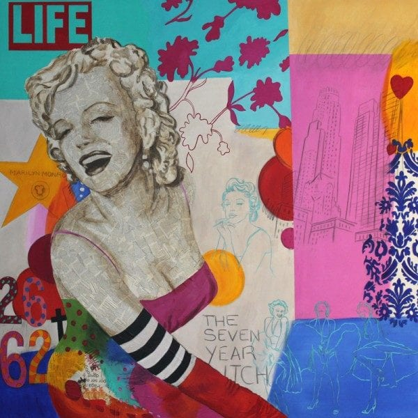 Marylin in Love 2 | 200X200 - Técnica mixta sobre lienzo | Carmen Casanova | Exposición 'Glamourama' | Galería Herráiz | Madrid