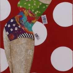 Shyntetic Body | 130X60 - Técnica mixta sobre lienzo | Carmen Casanova | Exposición 'Glamourama' | Galería Herráiz | Madrid