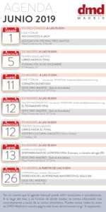 Agenda DMD Madrid Junio 2019 | Actos Derecho a Morir Dignamente | Infografía